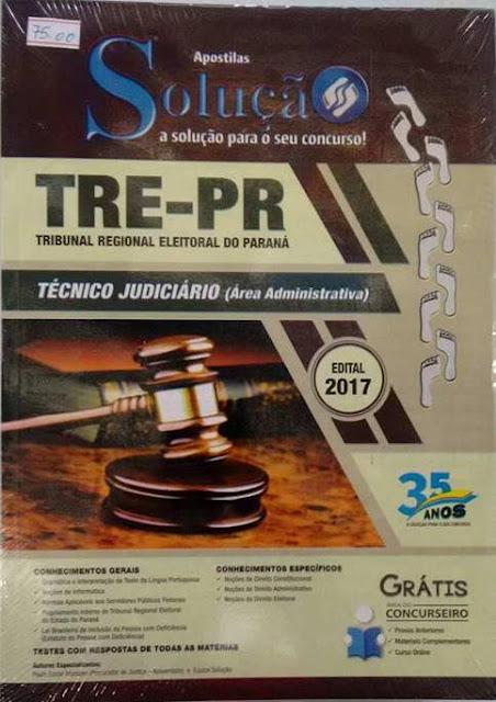 TRE-PR Tribunal Regional Eleitoral do Paraná, Valor R$75,00 da apostila