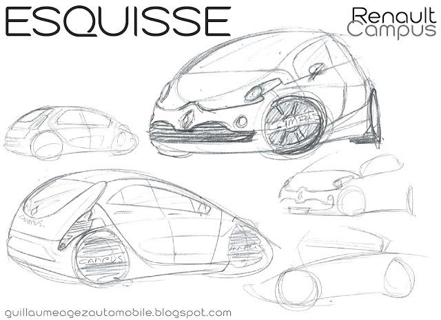 Guillaume AGEZ Automobile: Esquisse : Renault Campus