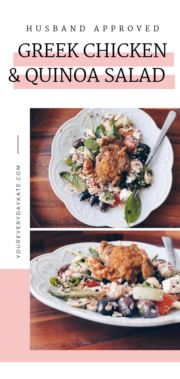 greek chicken and quinoa salad pinterest