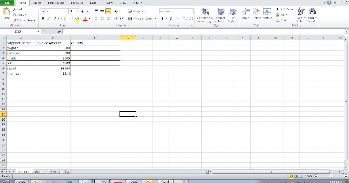 Oracle EBS Technical Step By Step: VLOOKUP formula in Excel