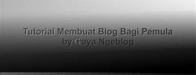 Membuat blog dengan subdomain blogspot