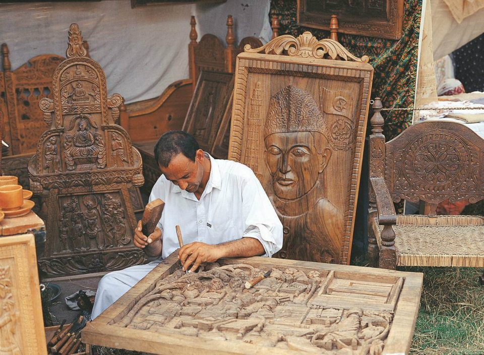 Woodcarving - centuries old art of Swati craftsmen, Swat Pakistan
