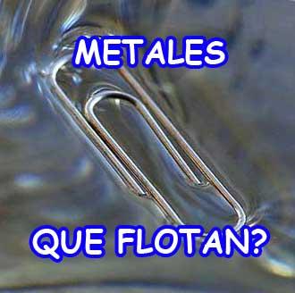 experimento metal que flota