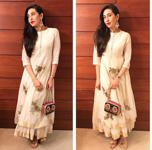 Karisma Kapoor In Anarkali Suit By Myoho