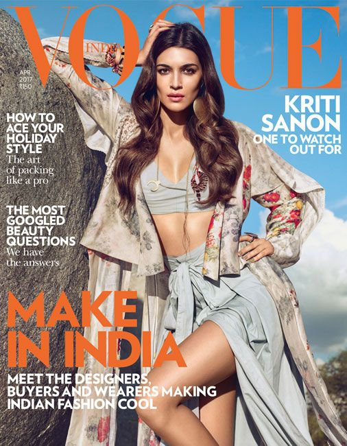 Kriti Sanon On The Cover Of Vogue Magazine India April 2017