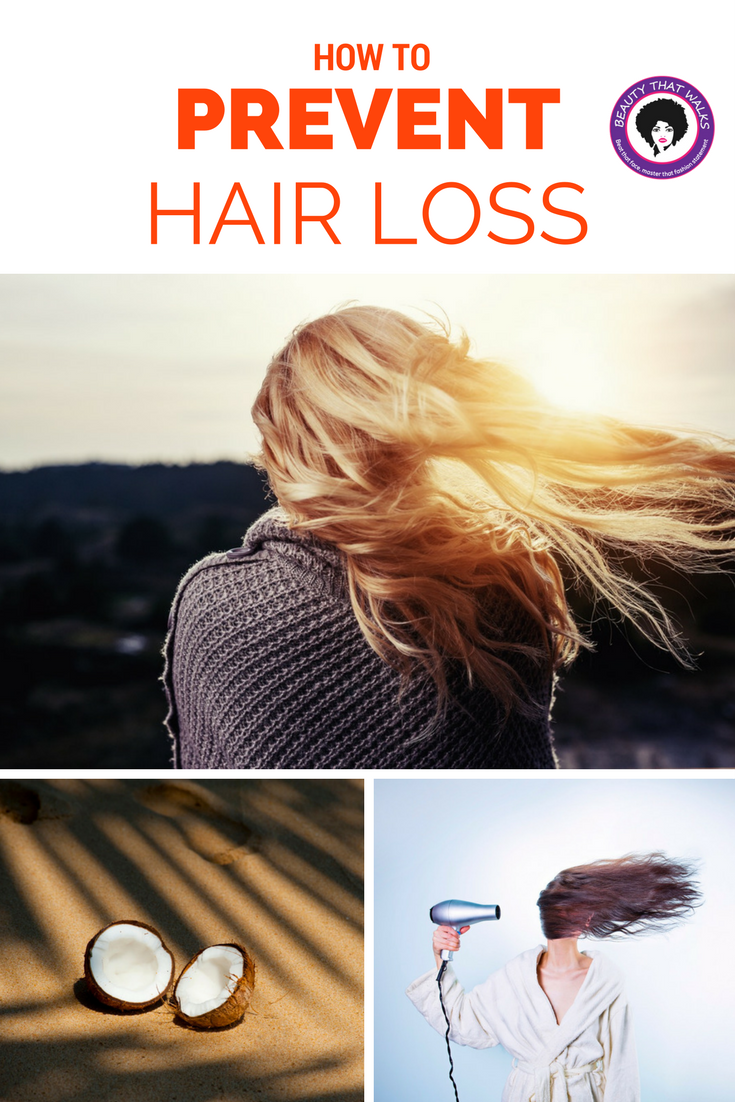 hair loss, coconut oil, blow dry
