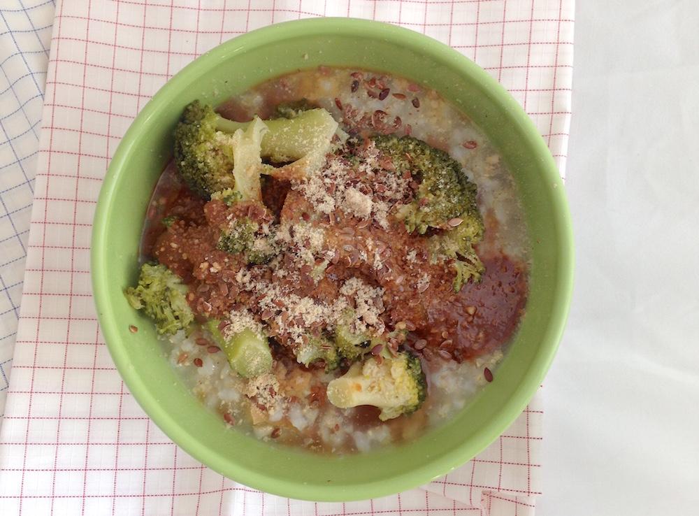 Porridge salato di riso - consulenza macrobiotica