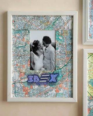 photo frame from maps, world map wall artwork, world map art decor for interior design