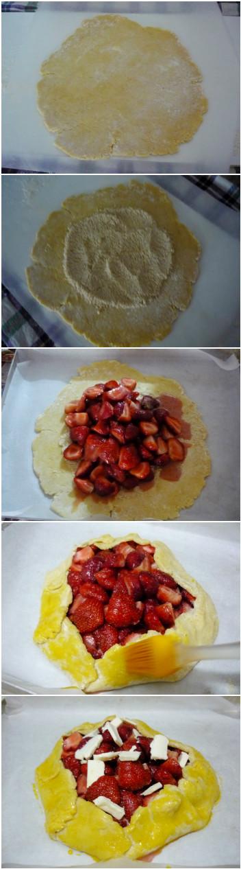 Strawberry Galette  Çitra's Home Diary. #galetterecipe #strawberryrecipe #strawberrygalette #pierecipe #dessertpie #fruitypie #strawberrypie