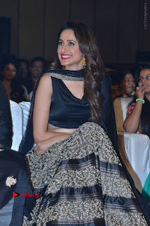 Actress Pragya Jaiswal Stills in Black Dress at Om Namo Venkatesaya Audio Launch Event  0012.JPG