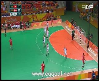 شاهد مباراة تونس والدنمارك   اوليمبياد ريو - كرة اليد tun vs den