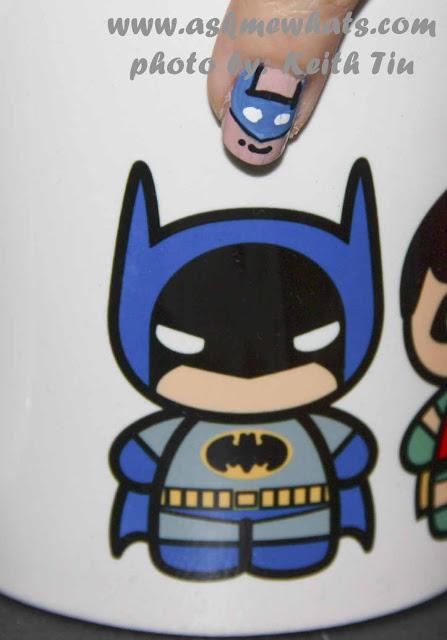 a photo of DC Superheroes Nail Art Tutorial Batman