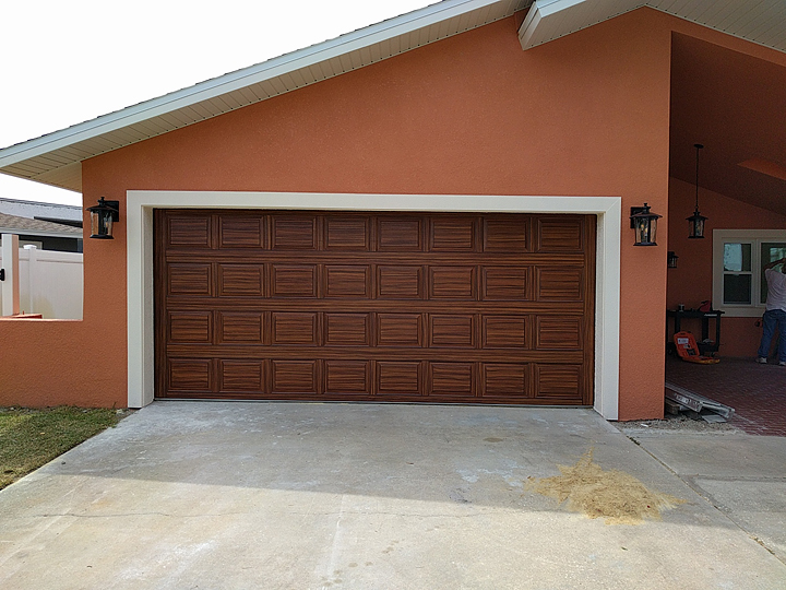 Everything i create paint garage doors to look like wood for Wood looking garage doors