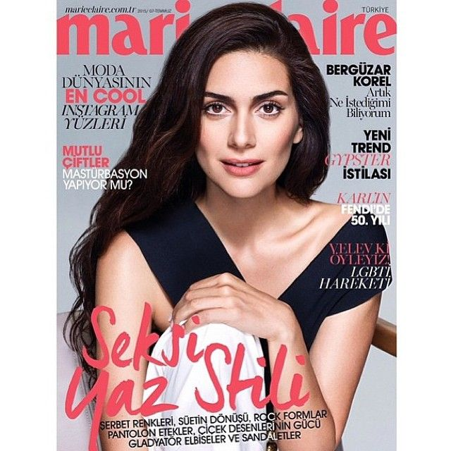Berguzar Korel, Sherazade mil e uma noites novela, na capa da Marie Claire