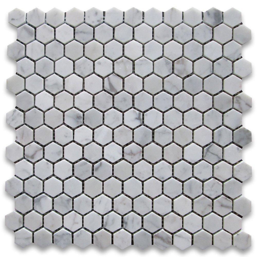 Marble Hex Mosaic Floor Tile