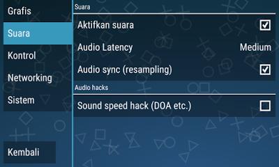 Cara setting suara sound PPSSPP agar suara game PSP bagus