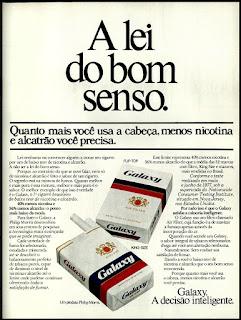 Philip Morris; propaganda cigarros Galaxy - 1978; propaganda anos 70; história decada de 70; reclame anos 70; propaganda cigarros anos 70; Brazil in the 70s; Oswaldo Hernandez;
