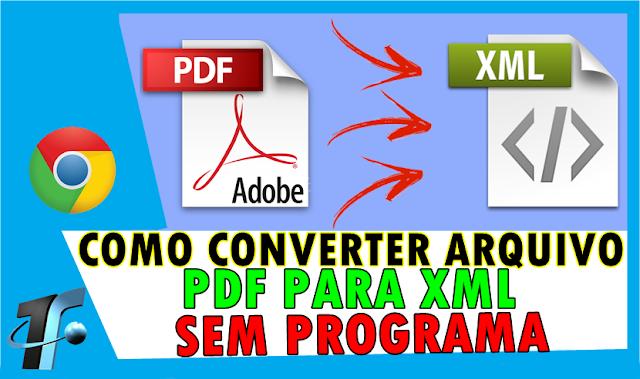 Como Converter PDF para XML