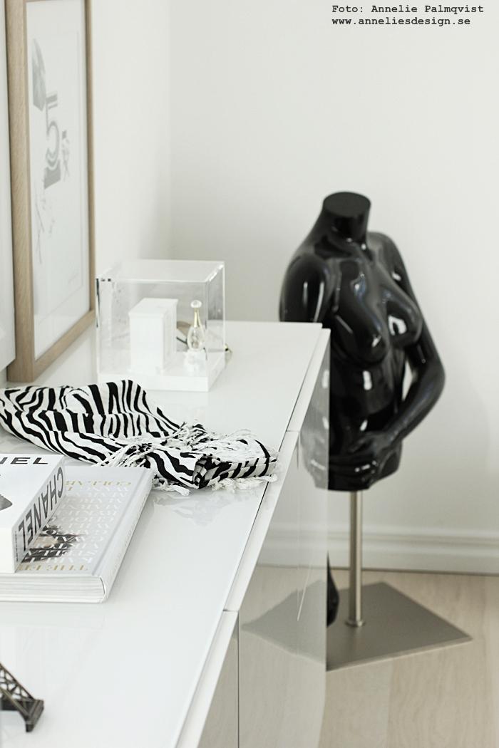 skyltdocka, skyltdockor, svart, walk in closet, wic, detaljer, skänk, skänken, ikea, bestå, vitt, vit, vita, ray ban, zebra, svart och vitt, inredning, inredningsblogg, blogg,