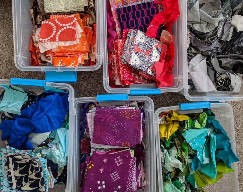 Reorganizing Fabric and Scraps