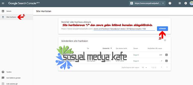 Search Console Site Haritası Ekleme