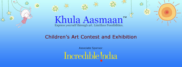 Incredible India will be an Associate Sponsor for Khula Aasmaan - Children's Art Contest & Exhibition presented by Indiaart.com