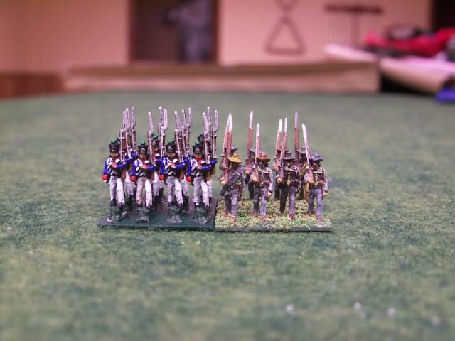 InkBiz 1:200 French Infantry painted comparison GHQ N-scale civil war
