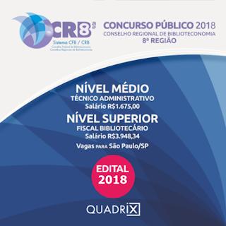Concurso CRB 8 SP edital 2018