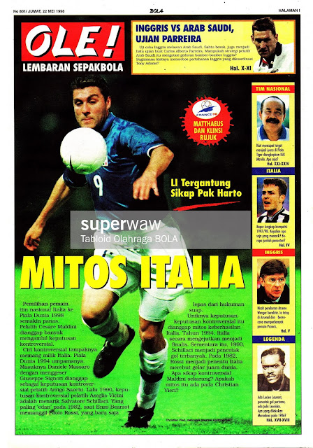 CHRISTIAN VIERI ITALY 1997 FOOTBALL NEWS