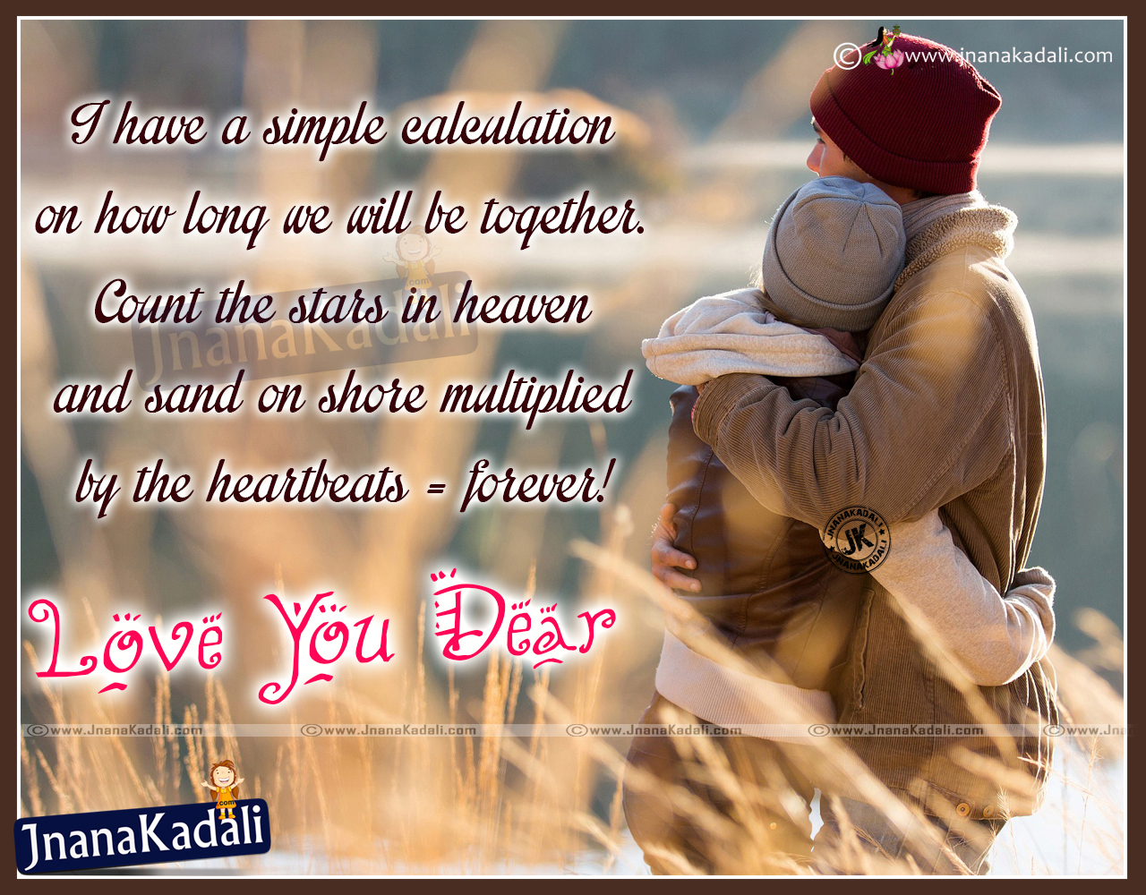 Romantic I Love You Dear English for Boyfriend Quotes in English ...