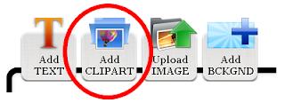 Add Clipart Button