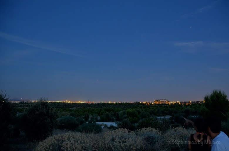 マドリードの郊外の日没