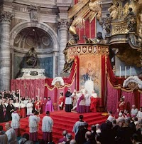 Scenes from the Solemn Papal Liturgy of Yesteryear