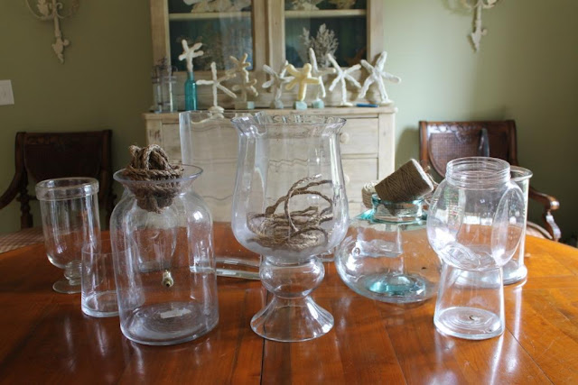 Clear vases can be used for many decorating projects