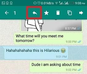 Cara Mengutip (Quote) pesan /chat di WhatsApp