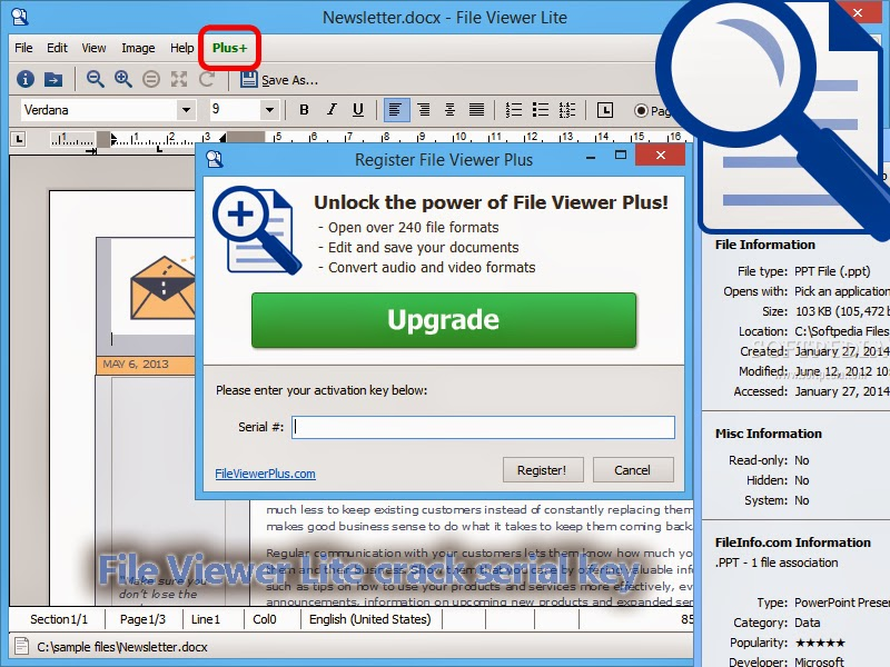 File Viewer Lite Serial Number Generator For Windows Android