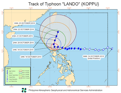 Super Typhoon Lando Updates - October 18, 2015