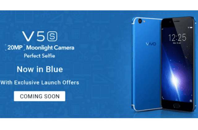 Vivo V5s Blue Colour Variant to be Launch Soon with 20MP Selfie Camera