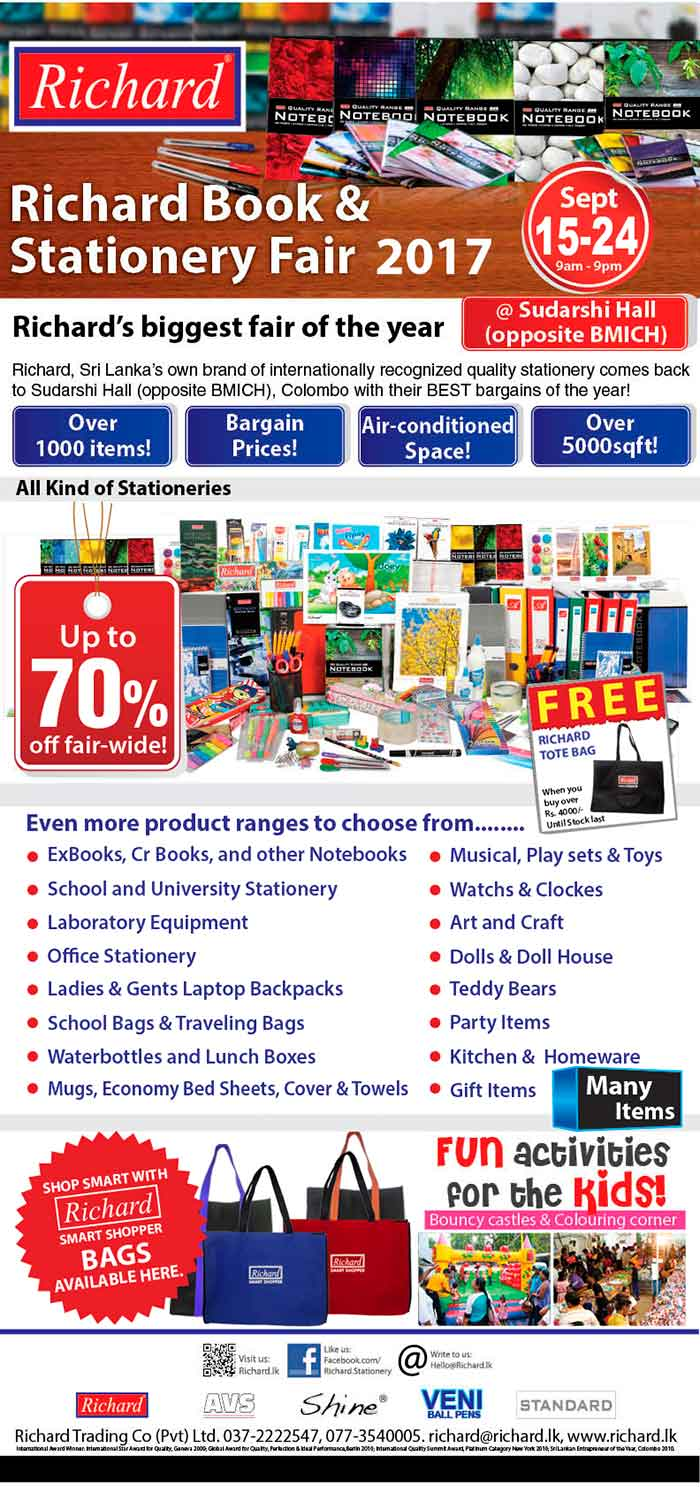 Richard Book & Stationery Fair - 2017 | Upto 70% Off.