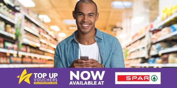 Buy Holly Top Up Vouchers at all participating Spars - Hollywoodbets - TUVs