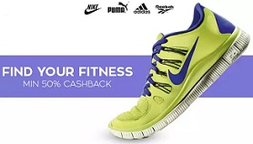 Sports Shoes : Minimum 50% OFF + Extra 50% Cashback @ Paytm