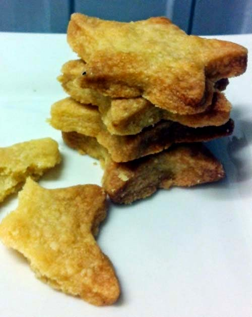 Star-shaped Shortbread Cookies