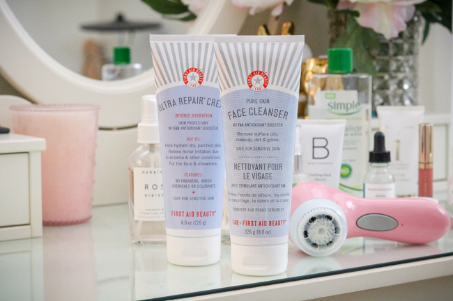 first aid beauty cleanser and moisturizer