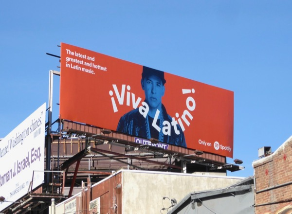 Viva Latino Spotify music billboard