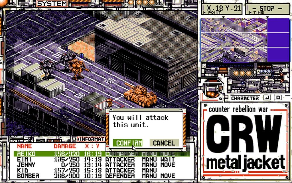Indie Retro News: CRW: Metal Jacket - PC-98 tactics game featuring