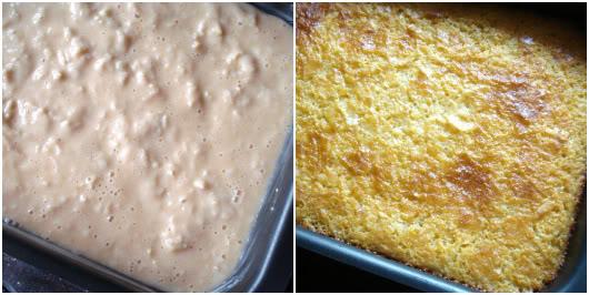 Orange pie by Laka kuharica: bake in the oven