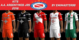 Kits Argentinos Juniors 2016-2017 Pes 2013 By Emimaster96