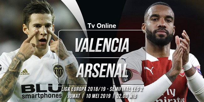 live streaming liga eropa valencia vs arsenal 10 mei 2019