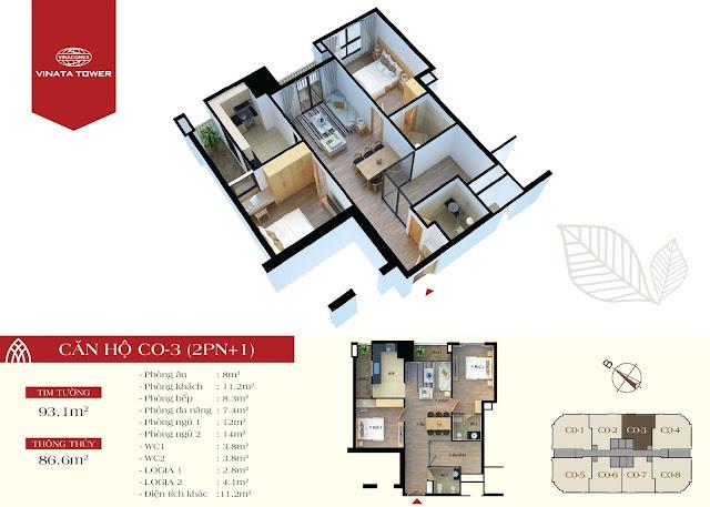 căn CO3 chung cư Vinata Tower