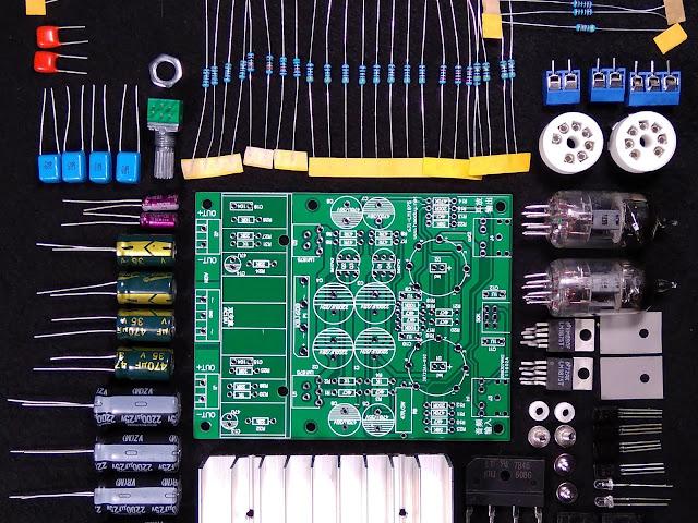 Детали Гибридного усилителя на лампе 6J1 (6Ж1П) и микросхеме LM1875T